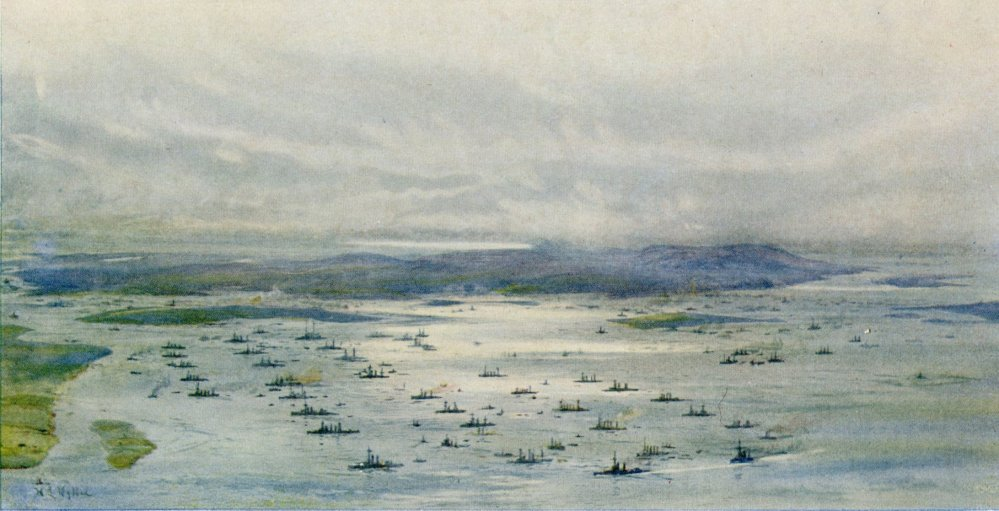 W5-The-Grand-Fleet-in-Scapa-Flow-by-L-Wyllie